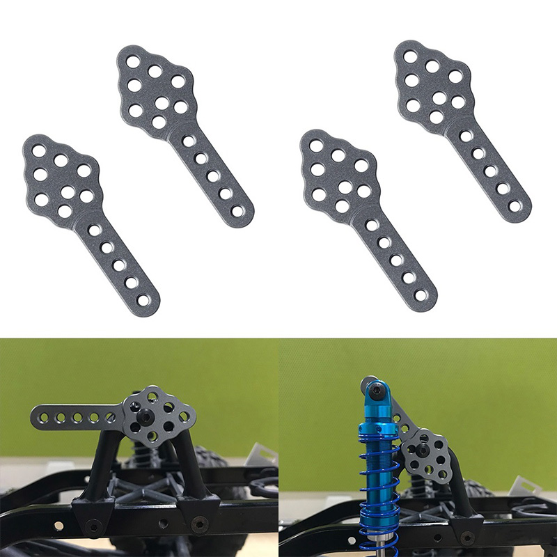 FPVDrone RC Car Shock Absorber Mount CNC Metal Adjust Height Angle Stand for Axial SCX10 90046 D90 D110 RC Crawler Car