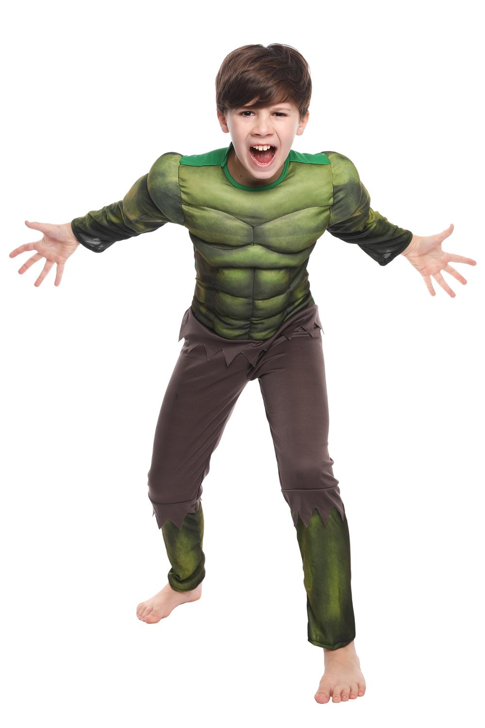 Image 3 - Heroic Hulk Onesies Birthday Party Carnival Clothes Very Cool Gift Avengers Halloween Cosplay Costume For KidsBoys Costumes   -