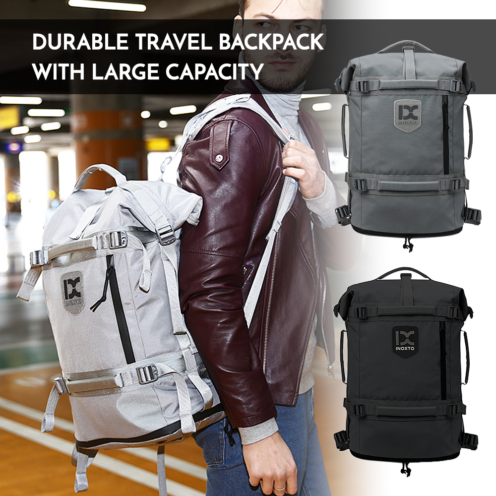 Outdoor Travel Backpack Camping Climbing Bag Laptop Rucksack Canvas Shoe Compartment Earphone Hole Sports Backpack