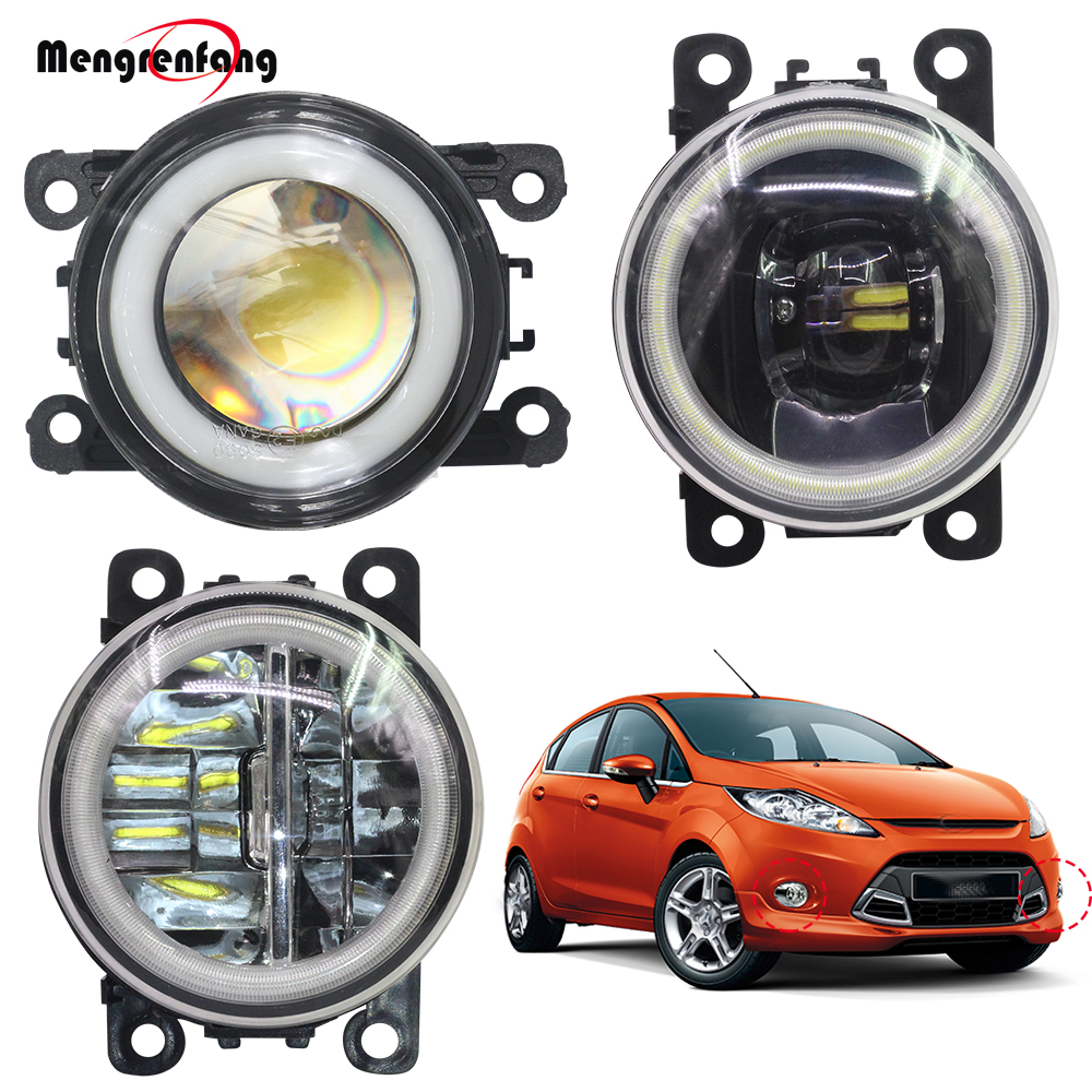 2 Pieces Car <font><b>Accessories</b></font> Fog Lamp LED Halo Ring Angel Eye Daytime Running Light 4000LM 12V For <font><b>Ford</b></font> <font><b>Fiesta</b></font> 2001-2015 image