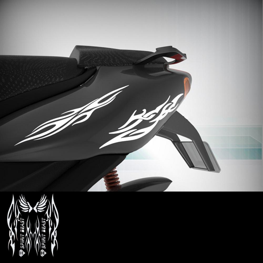Reflective 3D Motorcycle Sticker Fuel Oil Tank Pad Decal Protector Cover Black Sliver Universal for Yamaha ETC in Car Stickers from Automobiles Motorcycles
