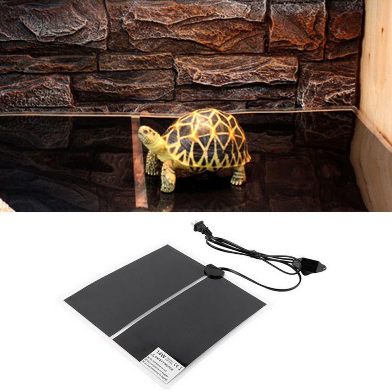 Нагревательный теплый коврик настраиваемый регулятор температуры инкубатор коврик инструменты Террариум рептилий тепловой коврик 7-45 Вт с...