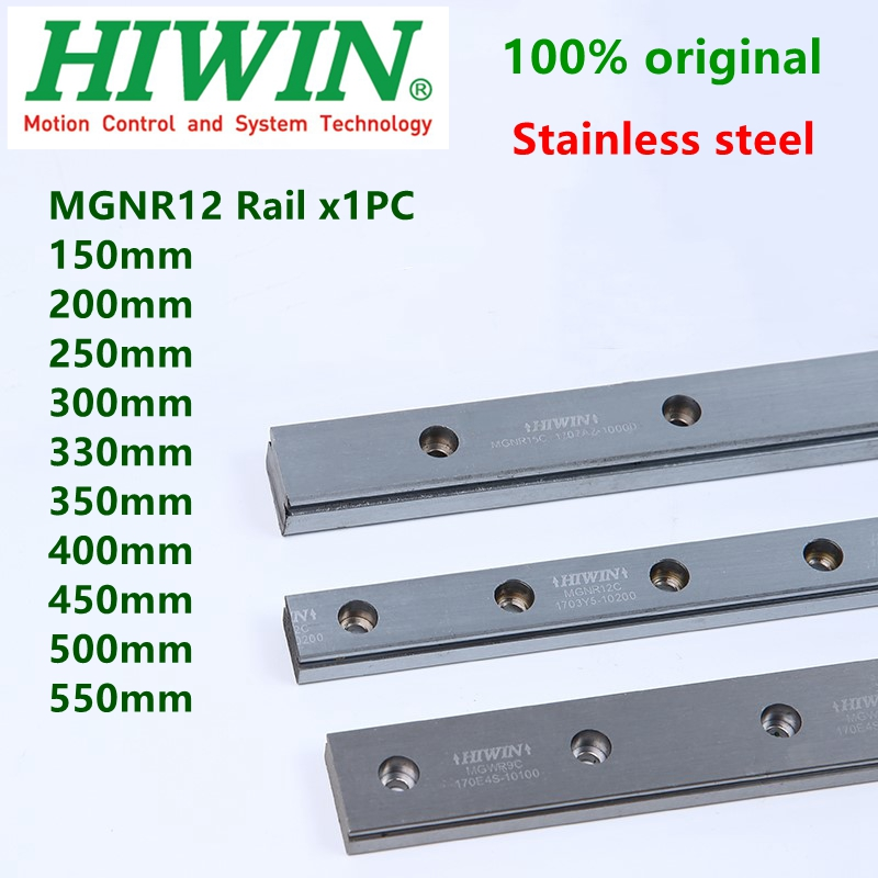 HIWIN stainless steel MGN12 Linear Guide MGNR12C Rail 12mm linear guideway 200 250 300 330 350 400 500 550 mm Customized length