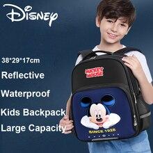 Disney Frozen Sequins Cartoon Mickey Minnie Backpack Kids Reflective Stripe Kids Backpack Waterproof
