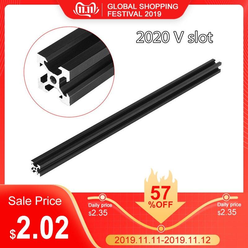 100-1000mm Black 2020 V-Slot Aluminum Profile Extrusion Frame For CNC Laser Engraving Machine Woodworking DIY