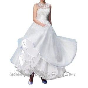 Image 3 - Lakshmigown uma linha tule underskirt feminino sem aros 100cm até o chão vestido de casamento saias acessórios de noiva 2019