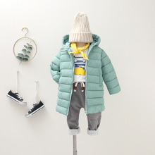купить children cotton jacket Outerwear Boy and Girl autumn Warm Down Hooded Coat baby parka kids winter jacket 2-7 years Dropshipping дешево