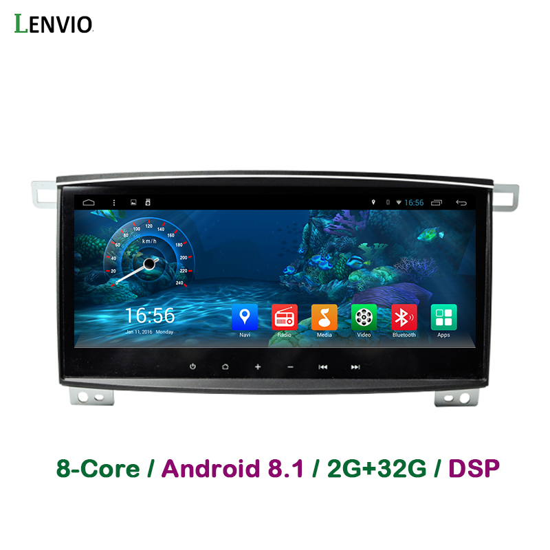 Lenvio DSP RAM 2GB + 32GB 2 Din Android 8.1 voiture DVD Radio GPS Navigation pour Toyota Land Cruiser 100 LC100 2006 2007 Octa Core BT