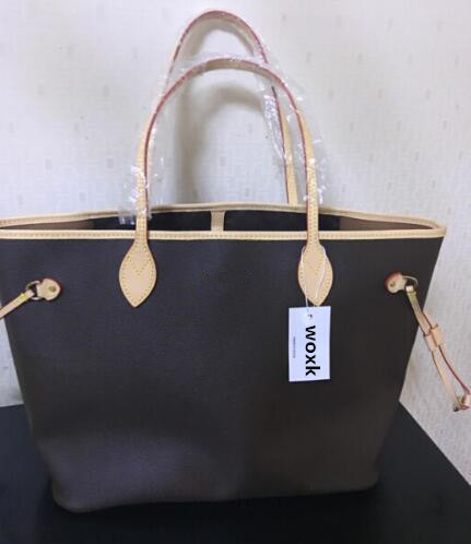woxk new fashion neverful bag women handbag with good quality bags GM/MM bag free shipping