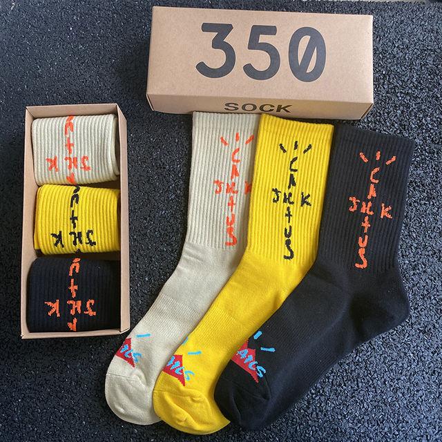 3 PAIR/BOX CACTUS JACK TRAVIS SCOTT SOCKS (6 VARIAN)