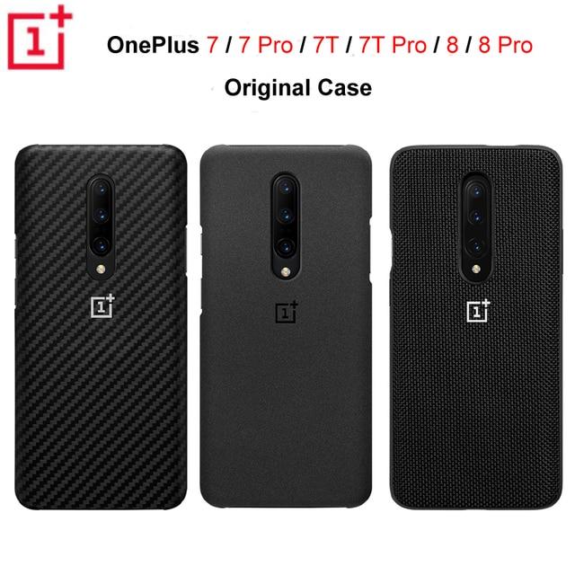 Ban Đầu Chính Thức OnePlus 7 7 Pro 7T 7T Pro OnePlus 8 8 Pro Ốp Lưng Karbon Carbon Đá Sa Thạch Nylon ốp Lưng Ốp Lưng Ốp Lưng Vỏ