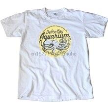 Vintage DePoe Bay acuario de viaje de Oregón etiqueta camiseta