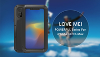 Love Mei Metal Case For iPhone 11/iPhone 11 Pro/iPhone 11 Pro Max Powerful Shockproof Waterproof Armor Cover Gorilla Glass Film