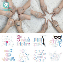 1Pcs Laser Team Bride Temporary Tattoo Bachelorette Party tribe Flash Bridesmaid Gift Wedding Decoration