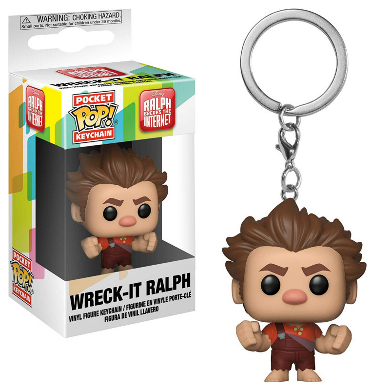 FUNKO POP Pocket Pop Keychain Official Wreck-It Ralph Anime Movie Action Figures Gifts Collection Toys For Boy Children Kids