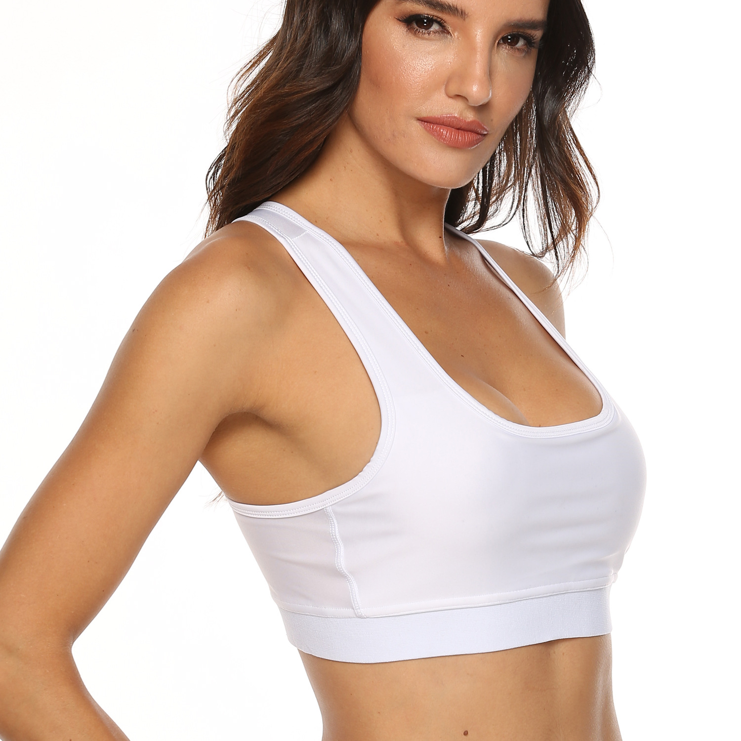 Details about  /Yoga Workout Bra Seamless Solid Brassiere For Women/'s Sports Underwear Clothing