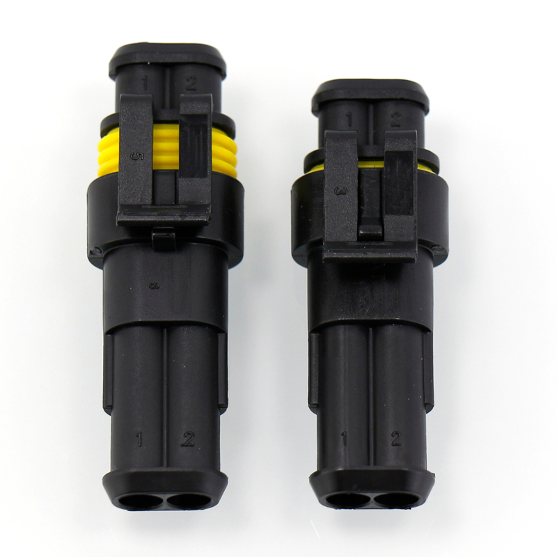 10set Kit 2Pin/3 Pin/4 Pin Way Waterproof Electrical Wire Connector Plug for car Waterproof Connector auto connectors terminals