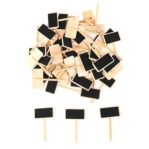 Wholesale Hot 50 Mini blackboard wood message slate rectangle clip clip panel card memos label