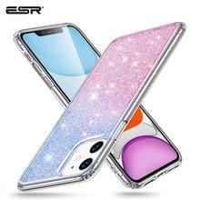 Esr caso para iphone 11 pro max 2019 tira rosa lantejoulas bling marca à prova de choque capa protetora para iphone11 iphon menina feminino