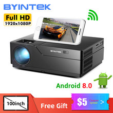 BYINTEK K20X Volle HD 1080P Projektor, Smart Android 8,0 WIFI 1920x1080 lAsEr Video Beamer,LED Proyector für 300 zoll 3D 4K Kino(China)