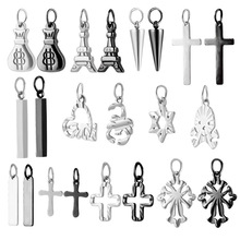 1 Pcs wholesale stainless steel earrings accessories allergy prevent ear stud earrings buckle jewelry accessories titanium black vacuum plated screw back stud earrings 316 l stainless steel no fade no allergy