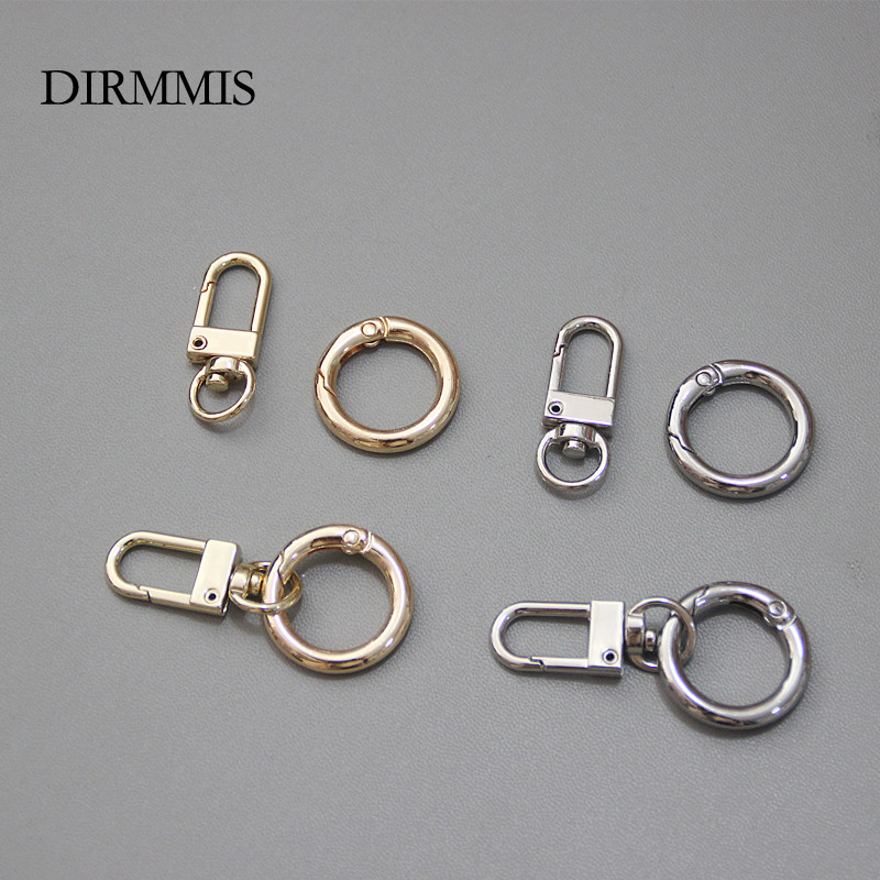 New Woman Bag Accessory Metal Bag Parts Luxury Handcrafted Round Ring Circle For DIY Keyring Connected Hook Bag Buckle Clasp