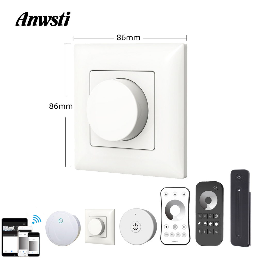 Triac LED Dimmer 220V Wireless 2.4G RF Remote Wifi Smart Knob Triac Dimmer Wall Mount Light Switch For AC110V 230V LED Lamp Bulb