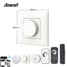 Triac LED Dimmer 220V Wireless 2.4G RF Remote Wifi Smart Knob Wall Mount Light Switch for AC110V 230V Lamp Bulb