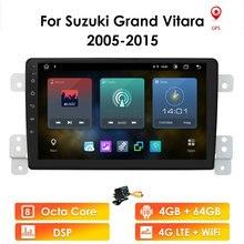 Android10 Car Radio For SUZUKI Grand Vitara 2005 2015 Escudo 2.5D Screen Player RDS WIFI  Audio GPS Multimedia 2Din Quad Core BT