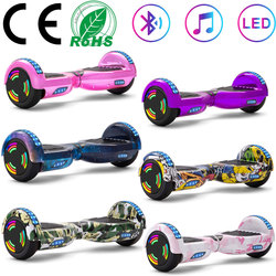 Hoverboard 6.5Self-balancing Scooter Electric Scooters 2 Wheels Rainbow Lights Smart Balance Skateboard With Bluetooth LED+Bag