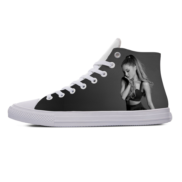 ARIANA GRANDE THEMED HIGH TOP SHOES (5 VARIAN)