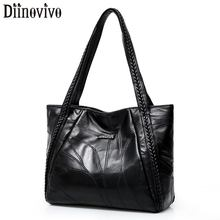 DIINOVIVO Woven Designer Women Shoulder Bags Handbag Large Female Tote For Thread PU Leather HandBag WHDV1275