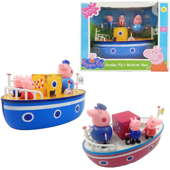 Peppa Pig DIY blue Sailing Ship toys Cartoon Action figure Family Anime Figure model Children Birthday toy Gift new kids toys watch action figure the avengers 3 spiderman hulk ironman figure model toys children brinquedo birthday gift
