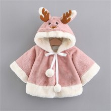 Neue Baby Mädchen Jacken Mantel Cartoon Verdicken Plus Fleece Mit Kapuze Einreiher Langarm Warme Outwear Winter(China)