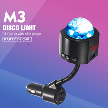 Car FM Transmitter MP3 Player Som Automotivo Bluetooth Handsfree USB Charger With Atmosphere Light Vehicular Accessory   Car Kit