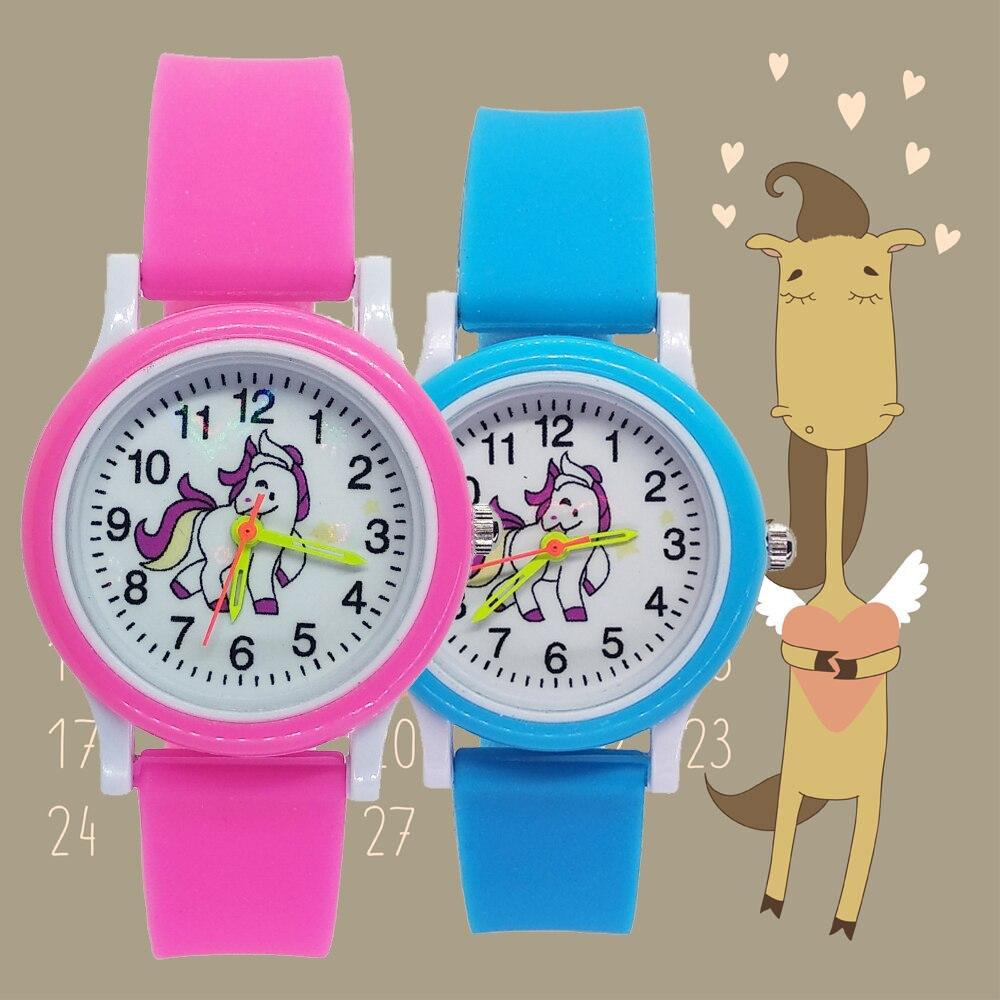 Fashion 3d Horse Style Children's Watches Kids Student Girls Boys Leather Quartz Wristwatches Unicorn Watch Christmas Gift D010