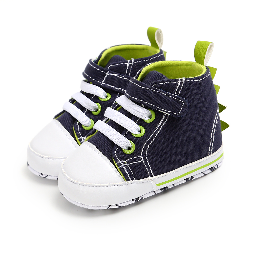 Middle Tube Baby Shoes Toddler Canvas Solid Sneakers Baby Boy Girl Soft Sole Crib Shoes Anti-slip Lovely First Walkers 0-18M
