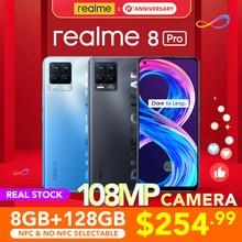 [Welt Premiere Echt Lager] realme 8 Pro Globale Version 6GB/8GB 128GB 108MP Kamera 50W SuperDart Ladung Super AMOLED