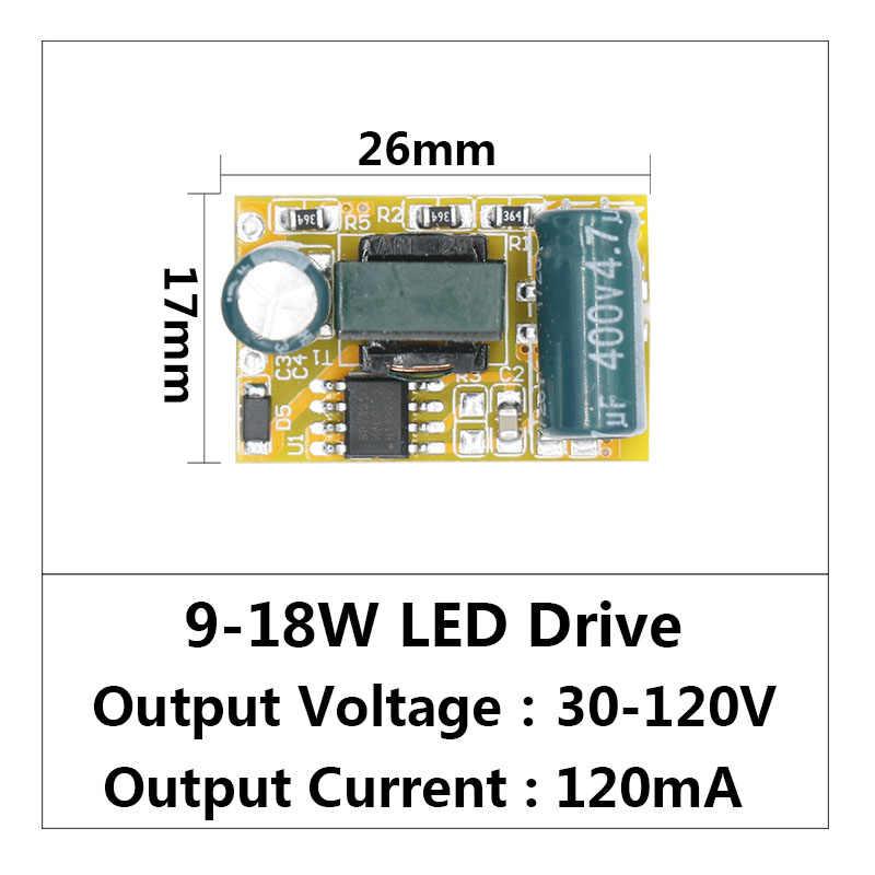 LED sürücü 9 W-18 W güç kaynağı sabit akım 75mA-250mA otomatik voltaj kontrolü için aydınlatma Transformers LED ışıkları DIY