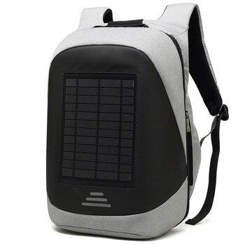 15.6' Laptop Solar Backpack Large iPad Bag USB Charging Business Backpacks Traveling Daypack anti theft backpack Male Mochila 2