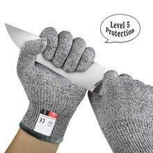 Анти-вырезать на открытом воздухе Рыбалка перчатки для ножа устойчива к порезам защиты Сенсорный экран анти-скольжения ультра-тонкий Стальная проволочная сетка Перчатки