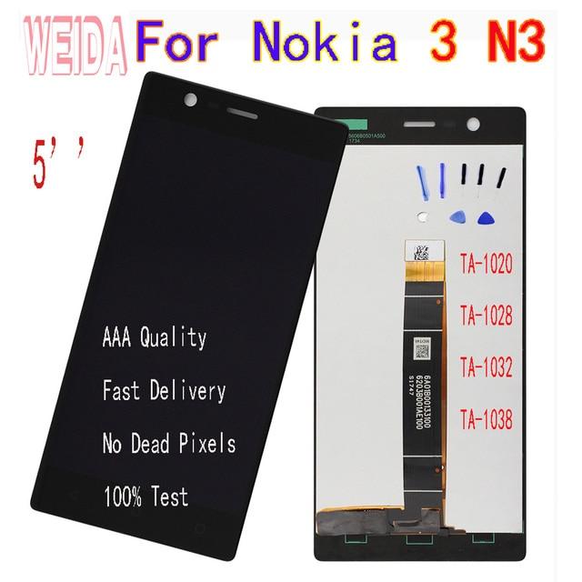 Weida 5''for Nokia 3 N3 Ta-1020 Ta-1028 Ta-1032 Ta-1038 Lcd Touch screen Digitizer Vergadering Met Tool