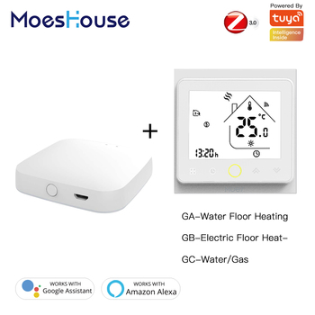 Zigbee Thermostat Temperature Controller 2MQTT Setup for Water/Electric floor Heating Water/Gas Boiler with Alexa Google Home - discount item  40% OFF Family Intelligence System
