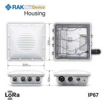 Enterprise DIY Outdoor Gateway LoRaWan Network Gateway Builtin OpenWRT OS with LoRa GPS WIFI LTE Antenna IP67 Waterproof Q123