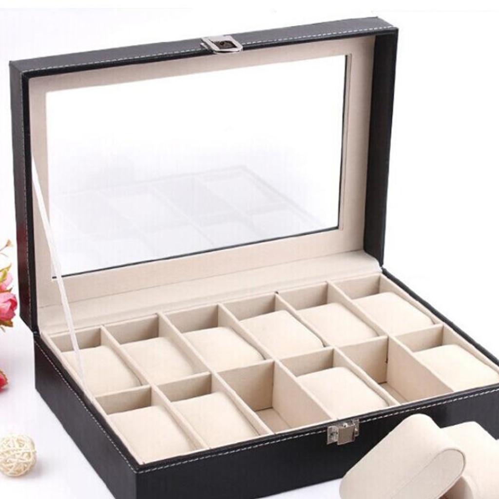 caixa de exibição caso vidro claro superior