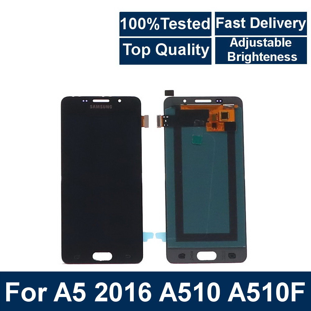 100%Tested For <font><b>Samsung</b></font> <font><b>Galaxy</b></font> A5 2016 <font><b>A510</b></font> A510F A510FD A510M A510Y Phone <font><b>LCD</b></font> Display Touch Screen Digitizer Assembly component image