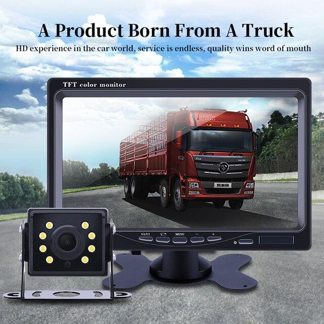 Hopycar 7 بوصة TFT شاشات كريستال بلورية مع كاميرا الرؤية الخلفية لشاحنة حافلة وقوف السيارات نظام الرؤية الخلفية 1
