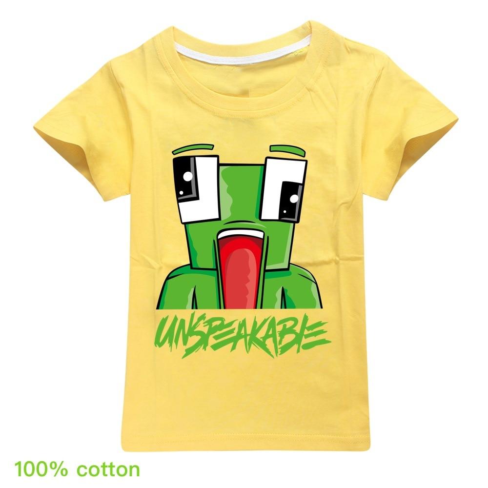 Summer Unspeakable Inspired Youtube Boys T-Shirts Gaming Kids sweatshirt T-Shirt For Girls Tops Tees Children Clothing 2