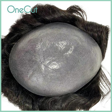 PU Base Men Toupee Super Thin Skin Male Wigs Natural Remy Hair Fleeciness Realistic Black Simulate Hairpiece Replacement System