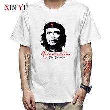 T-shirt da uomo XIN YI di alta qualità 100% cotone che guevara revolution stampa cool o-collo allentato t-shirt da uomo T-shirt da uomo